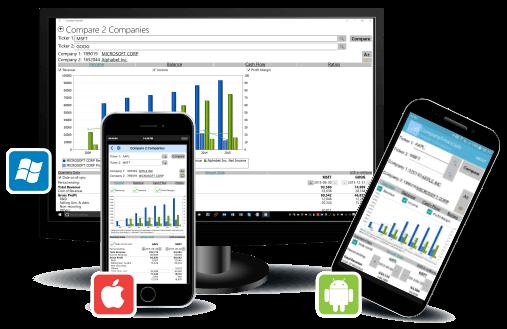 Altova MobileTogether - grafika ekranów różnych urządzęń i systemów operacyjnych