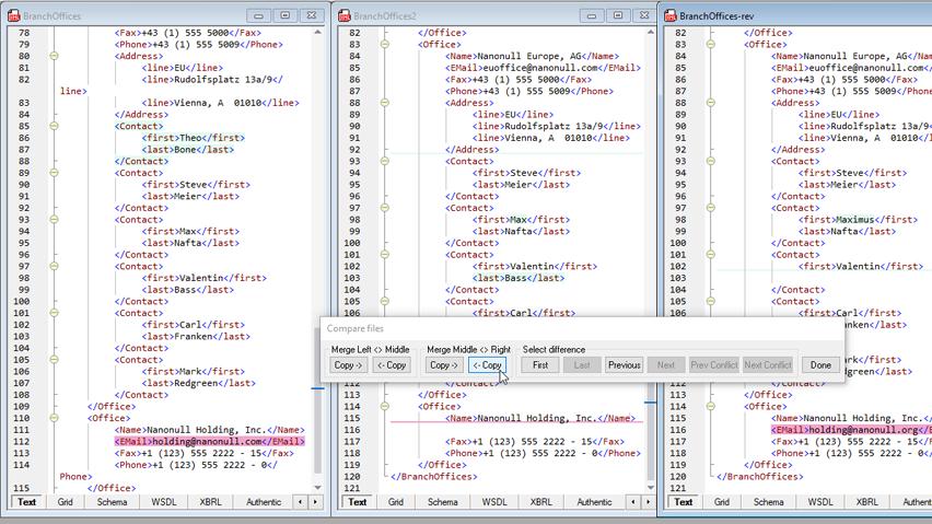 proces kodowania w Altova XMLSpy