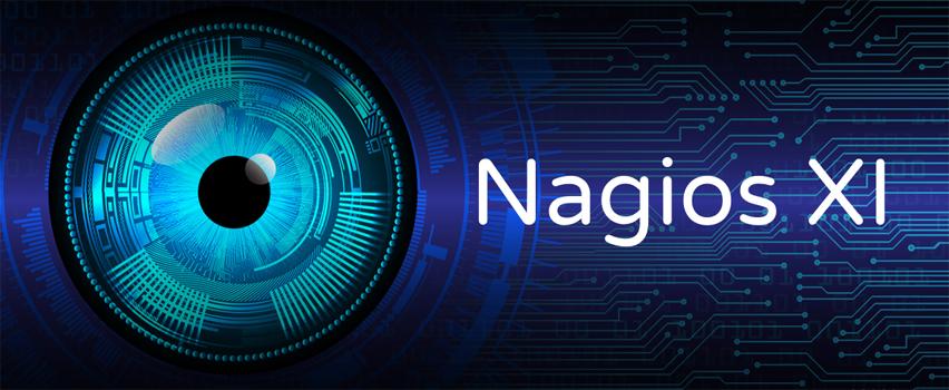 Nagios - zarządzanie infrastrukturą IT Nagios zielono niebieska grafika z białym napisem Nagios
